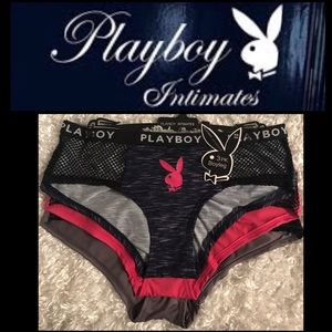 01c0c10cb84 Playboy Intimates 3 Pack Boyleg Panties